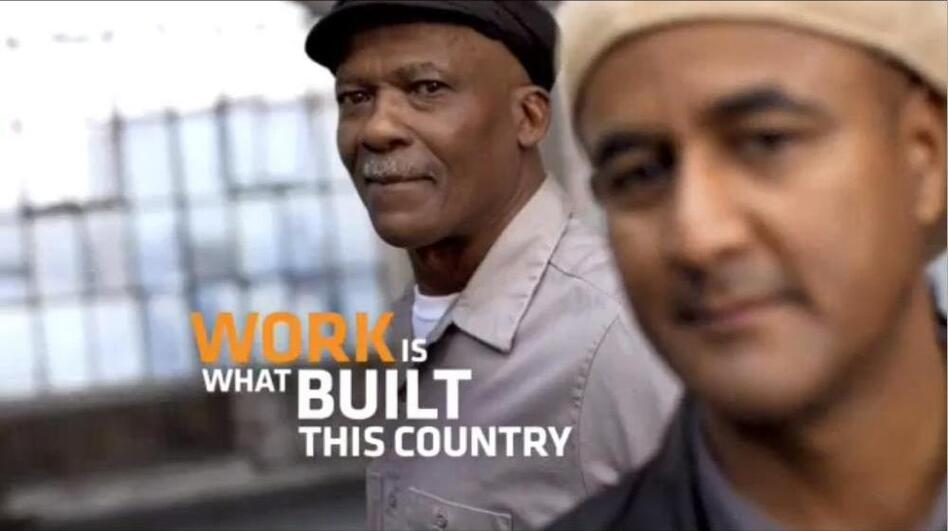 A new TV ad recently test-launched by the AFL-CIO discusses work without ever mentioning unions.