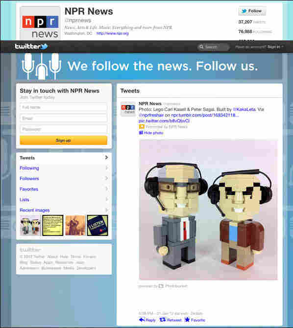 @NPR News Brand Twitter Page