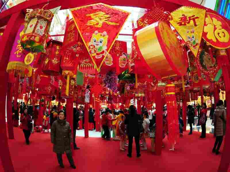 Lanterns made by the elderly at a preview show for the Chinese Lantern Festival in Beijing on Feb. 3, 2012. China has welcomed the auspicious year of the dragon. Yet, this year has not been auspicious for Chinese dissidents.