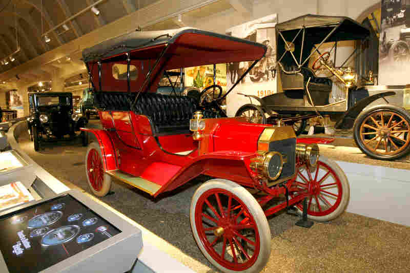 """The Ford Model T """"changed automobiles from being pleasure vehicles to being passenger vehicles,"""" says Henry Ford Museum curator Bob Casey. Above, a 1909 red Model T on display at the museum, in Dearborn, Mich."""