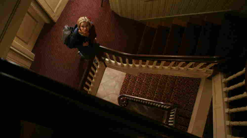 Claire (Sara Paxton), a 20-something desk clerk at an old New England inn, decides to investigate whether the hotel is haunted in director Ti West's latest film, The Innkeepers.