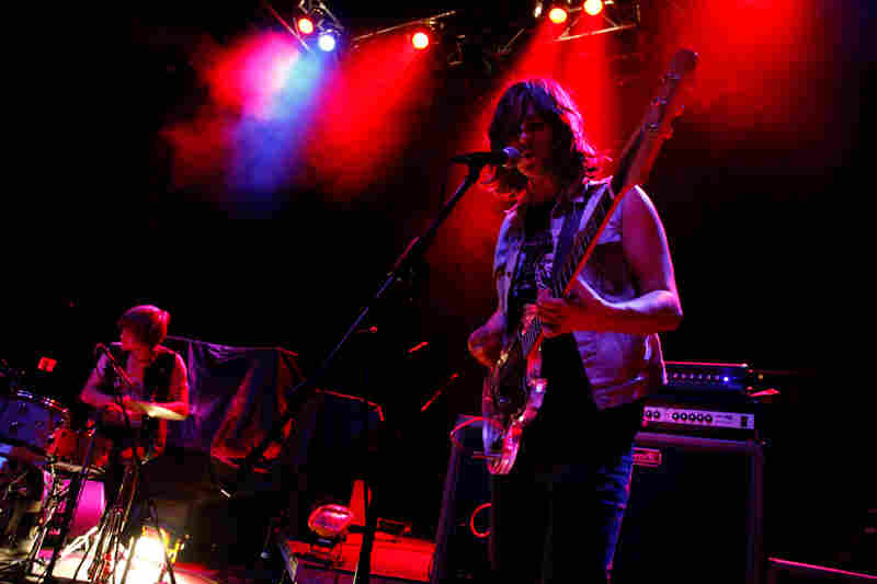 Nashville's JEFF The Brotherhood began the show at the 9:30 club with a blast of guitar noise.