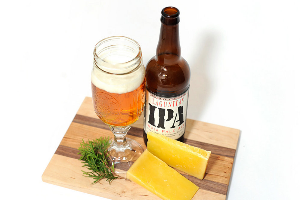 "Farmhouse Cheddar and IPA: ""I like IPAs with farmhouse cheddar. They're both kind of sharp and fruity; they both have kind of explosively big flavors. I think those work nicely together,"" Oliver says. If you have trouble finding a true ""farmhouse"" cheddar, a clothbound, aged cheddar should fill in nicely."