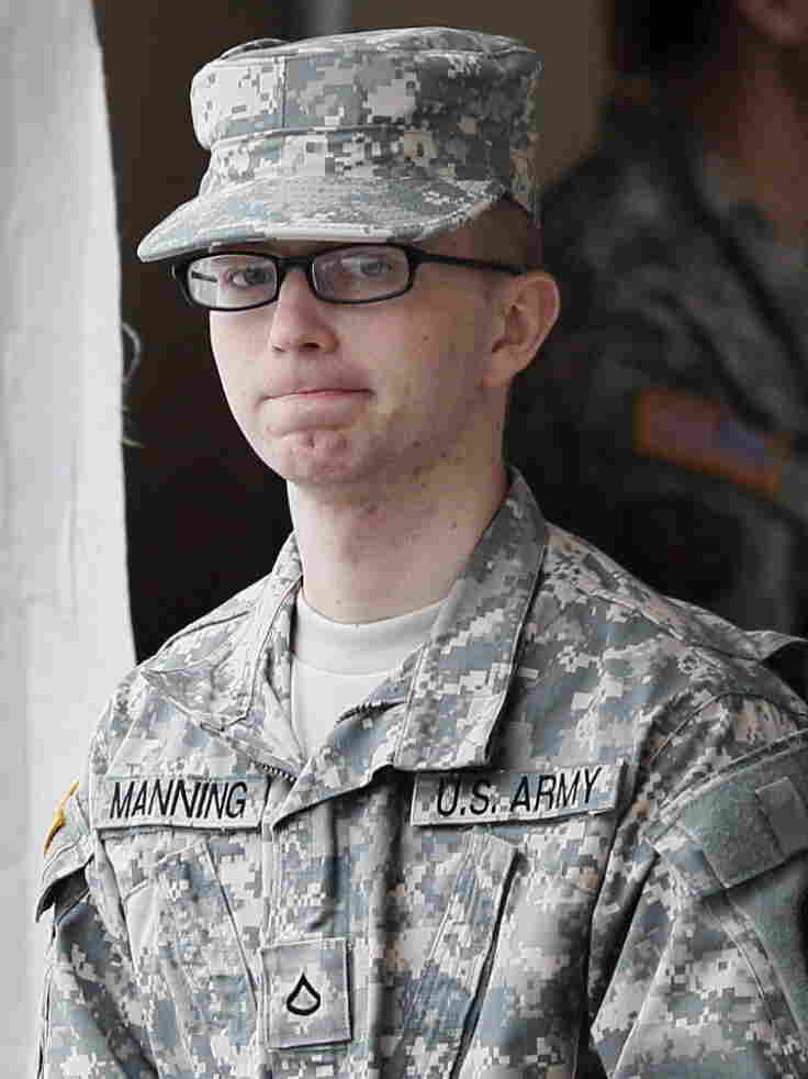 Army Pfc. Bradley Manning will face a court-martial on charges that he provided thousands of classified documents to WikiLeaks. Last month, Manning visited a courthouse in Fort Meade, MD., for a military hearing related to those charges.
