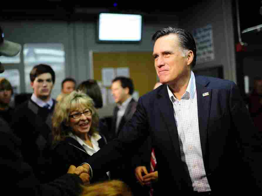 Republican presidential hopeful Mitt Romney in Sparks, Nevada.