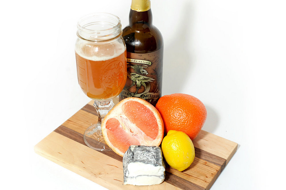 "Goat Cheese and Saison: ""With fresh goat cheeses, as opposed to aged goat cheeses, saisons work very well,"" Oliver says. ""They're bright; they're citrusy, they're super dry; they're slightly tangy. And their flavors are highly complementary to the flavors of those goat cheeses."""