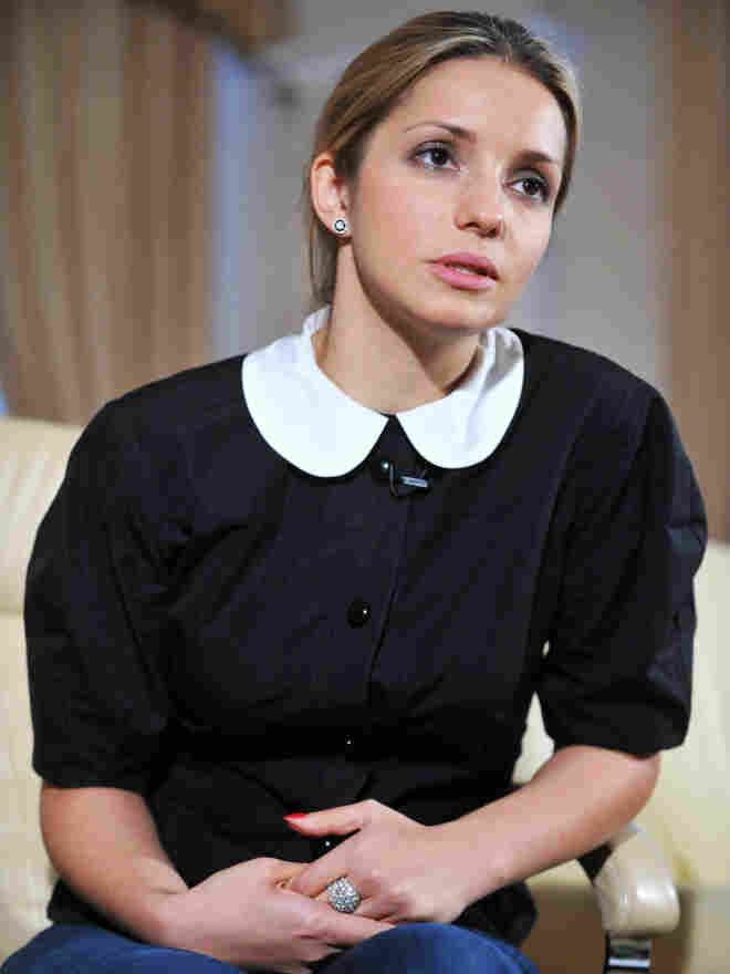 Evgeniya Tymoshenko, the daughter of Ukraine's former prime minister, Yulia Tymoshenko, has testified on Capitol Hill and met with top U.S. officials regarding her mother's case. Here, she speaks with the media in Kiev on Oct. 12, 2011, the day after her mother was convicted.