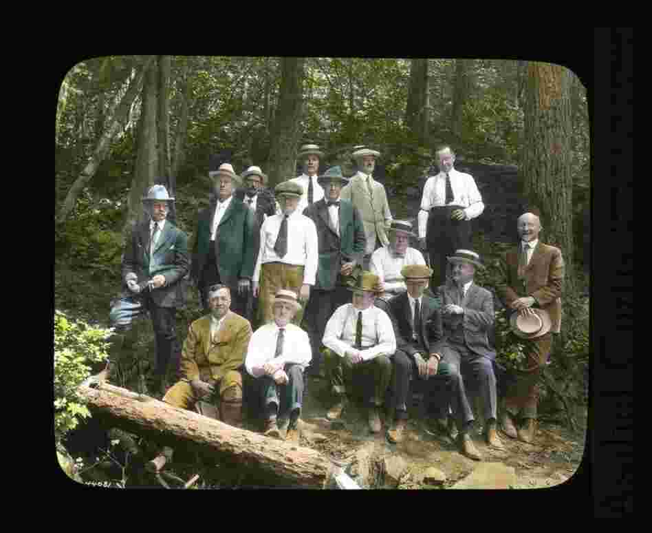 Spokane businessmen on the Mount Spokane Road