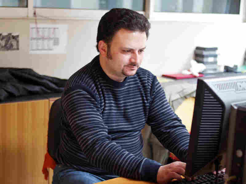 Dimitris Perakis, foreign news editor at ALTER, is owed more than $22,000. He's worked at the company for 14 years.