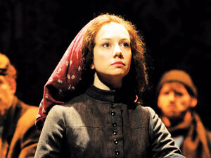 Actress Hillary Clemens portrays Yentl/Anshel in the new staging of Isaac Bashevis Singer's play at the Asolo Repertory Theatre in Sarasota, Fla.