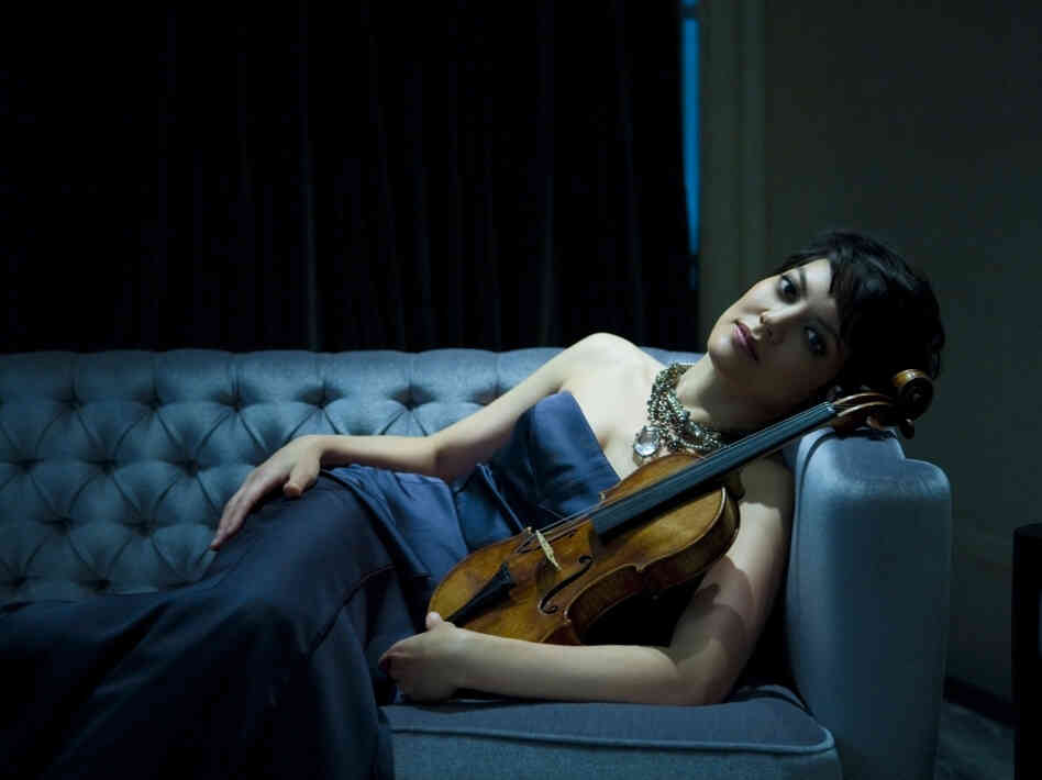 On a new recording, violinist Anne Akiko Meyers plays both solo parts in Bach's Double Concerto — one on each of her two Stradivarius violins.
