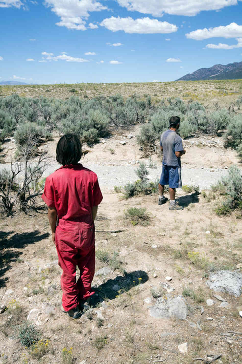 "Red Cliff Ascent is a privately-owned wilderness camp outside Springville, Utah. ""I have to wear this red jumpsuit because I'm a 'flight risk.'"" - P.C, age 15."