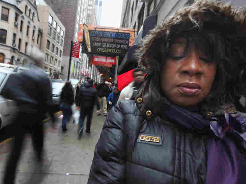 Employment seeker Vanessa Perry-Ellison waits in line to attend a job fair in Manhattan on Jan. 26, 2012 in New York City. While the nation's unemployment rate has dropped to 8.3 percent, unemployment remains a key topic in this year's election.