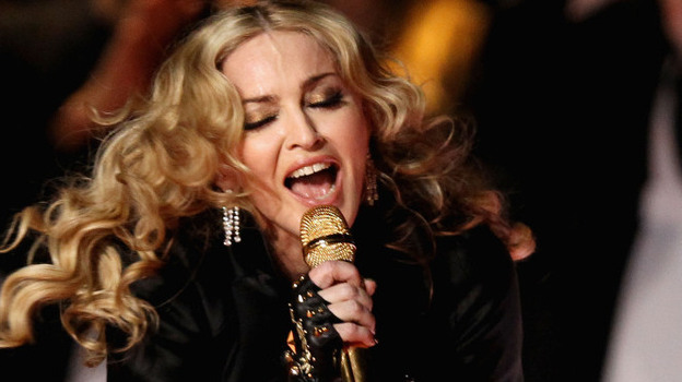 Madonna performs during the Super Bowl XLVI Halftime Show. (Getty Images)