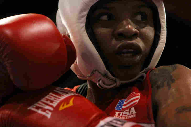 """When I get in the ring, what am I telling myself? 'Stay calm. Stay calm! This is my ticket,' "" Tyrieshia Douglas says."