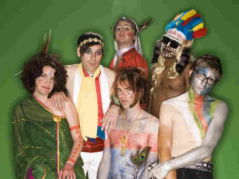 "With its horns and woodwinds, Of Montreal's ""Dour Percentage"" is danceable like a disco hit, but twice as flirty."