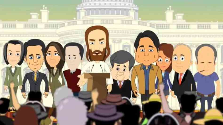 "Created by liberal Christians, the YouTube video ""Tea Party Jesus"" is a spoof on conservative politics."
