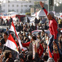 Egyptians continue demonstrating in Cairo's Tahrir Square on Jan. 26, 2012. Tens of thousands of Egyptian people gathered Monday to celebrate the anniversary of the start of the uprising that ended President Hosni Mubarak's rule.
