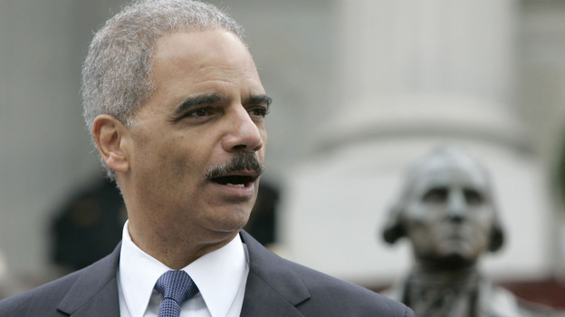 U.S. Attorney General Eric Holder speaks last month in Columbia, S.C. The state is now suing Holder over the Justice Department's decision to reject its new voter ID law. (AP)