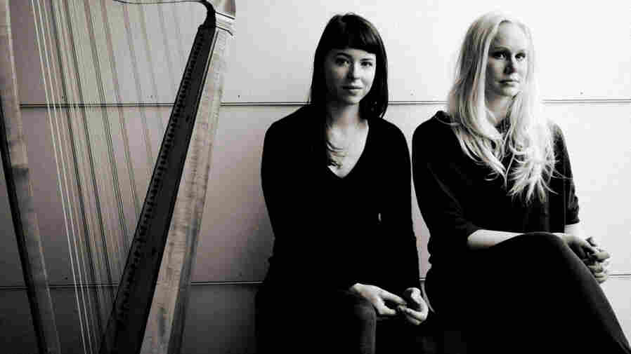 Baroque harpist Giovanna Pessi (left) and singer Susanna Wallumrød mix songs by Henry Purcell, Nick Drake and Leonard Cohen.