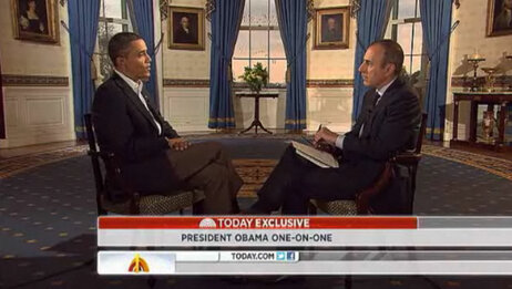 President Obama telegraphed his campaign's reversal on superPAC funding during an interview aired Monday with NBC's Matt Lauer.