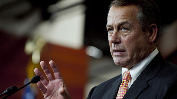 House Speaker John Boehner says Congress will intervene if President Obama doesn't reconsider a decision to compel church-affiliated employers to cover birth control in their health care plans.  (Getty Images)