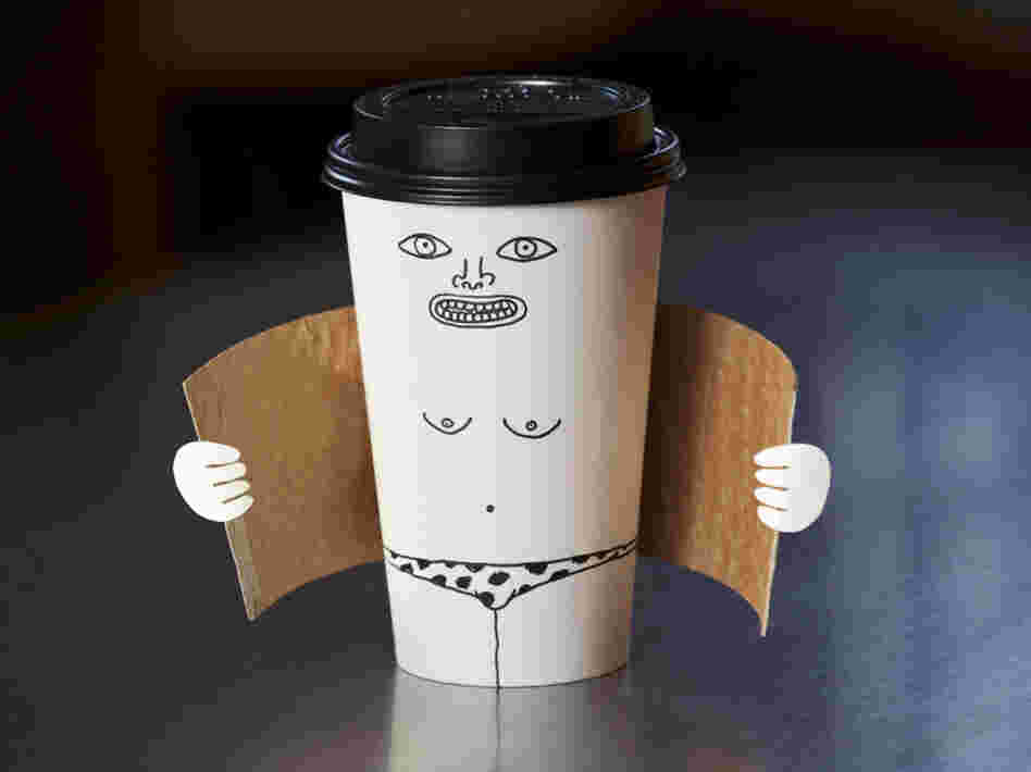 "A piece called ""Exhibitionist Coffee Cup"" by Brock Davis."