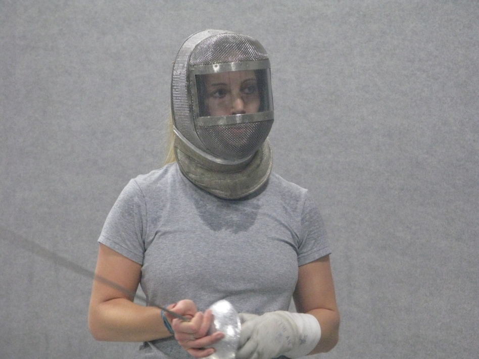 Mariel Zagunis during a recent training session in Portland, Ore. Zagunis won gold medals in women's sabre fencing at the 2004 and 2008 Summer Olympics.
