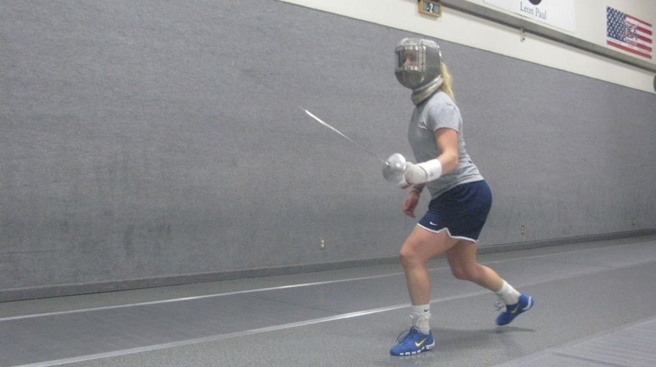 Mariel Zagunis won gold medals in women's sabre fencing at the 2004 and 2008 Summer Olympics.She's training to compete at the upcoming summer games in London.  (NPR)