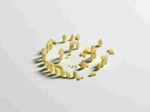 "Artist Brock Davis uses Rice Krispies to recreate Stonehenge in a piece he calls ""Rice Krispyhenge."""
