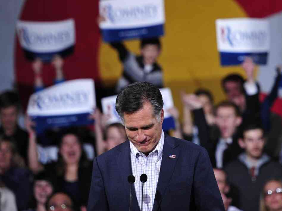 Presidential hopeful Mitt Romney in Denver, Colorado.
