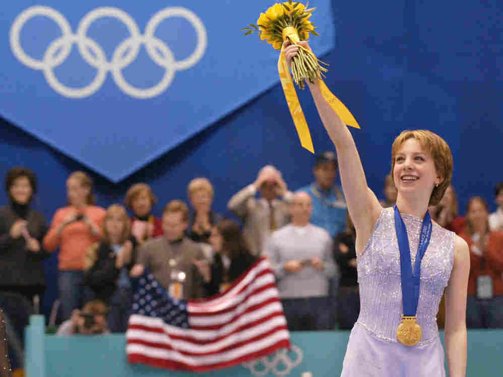 American figure skater Sarah Hughes won gold at the 2002 Winter Games in Salt Lake City.