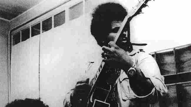 Sonny Sharrock (pictured here with Linda Sharrock, then his wife) approach his guitar like Albert Ayler played his saxophone — fiercely, yet tenderly out of bounds.