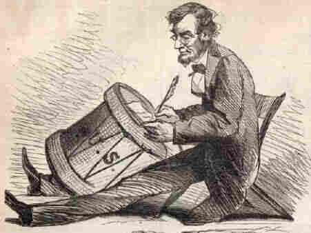 This drawing of Abraham Lincoln by editorial cartoonist Thomas Nast was published in Harper's Magazine in 1865.