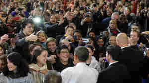 President Obama greets students after speaking at the University of Michigan in Ann Arbor on Jan 27. Young Republicans say they see an opportunity in 2012 to dent Obama's popularity among the youngest voters.
