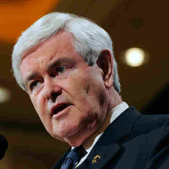 Republican presidential candidate and former Speaker of the House Newt Gingrich speaks at a news conference at The Venetian on Feb. 4 in Las Vegas.