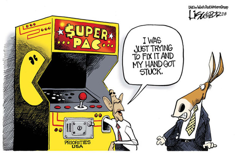 Double Take 'Toons: Leader Of The SuperPAC : NPR