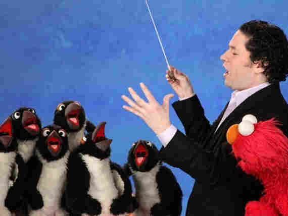 """The """"stupendous"""" pairing of Elmo and Gustavo Dudamel on 'Sesame Street' this week."""