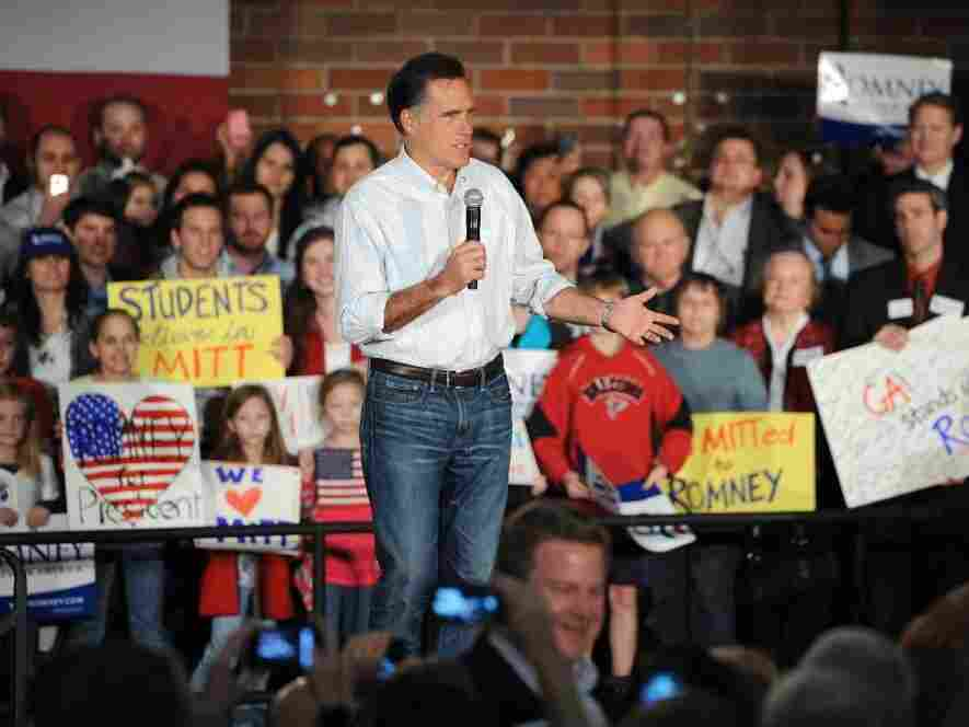 Mitt Romney took his campaign to Newt Gingrich's turf on Wednesday with a rally in Atlanta.