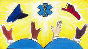 Chicago teen Herbie Pulgar won the city's art contest for vehicle stickers with this design. But the city, concerned that the design depicts gang signs, has decided not to use it.