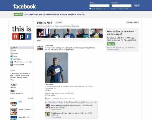 This is NPR Facebook page