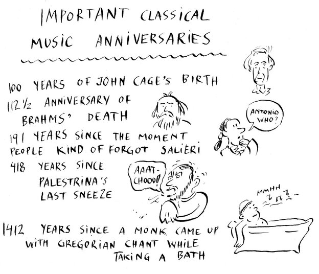 In Classical Music, Every Day's A Holiday.