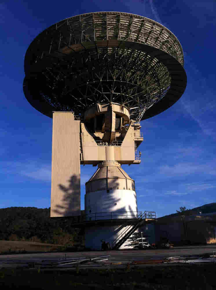 The Jamesburg Earth Station closed in 2002, but the 10-story satellite dish still stands tall.