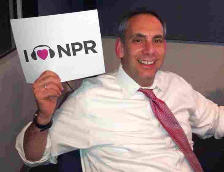 Dave Isay shows his love for NPR while visiting NPR Member Station KERA in Dallas during a national book tour for All There Is.