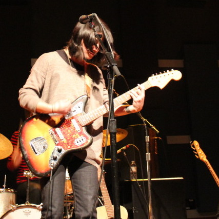 "Sharon Van Etten digs in during ""Serpents"" on Friday, Feb. 10 at WXPN's World Cafe Live in Philadelphia."