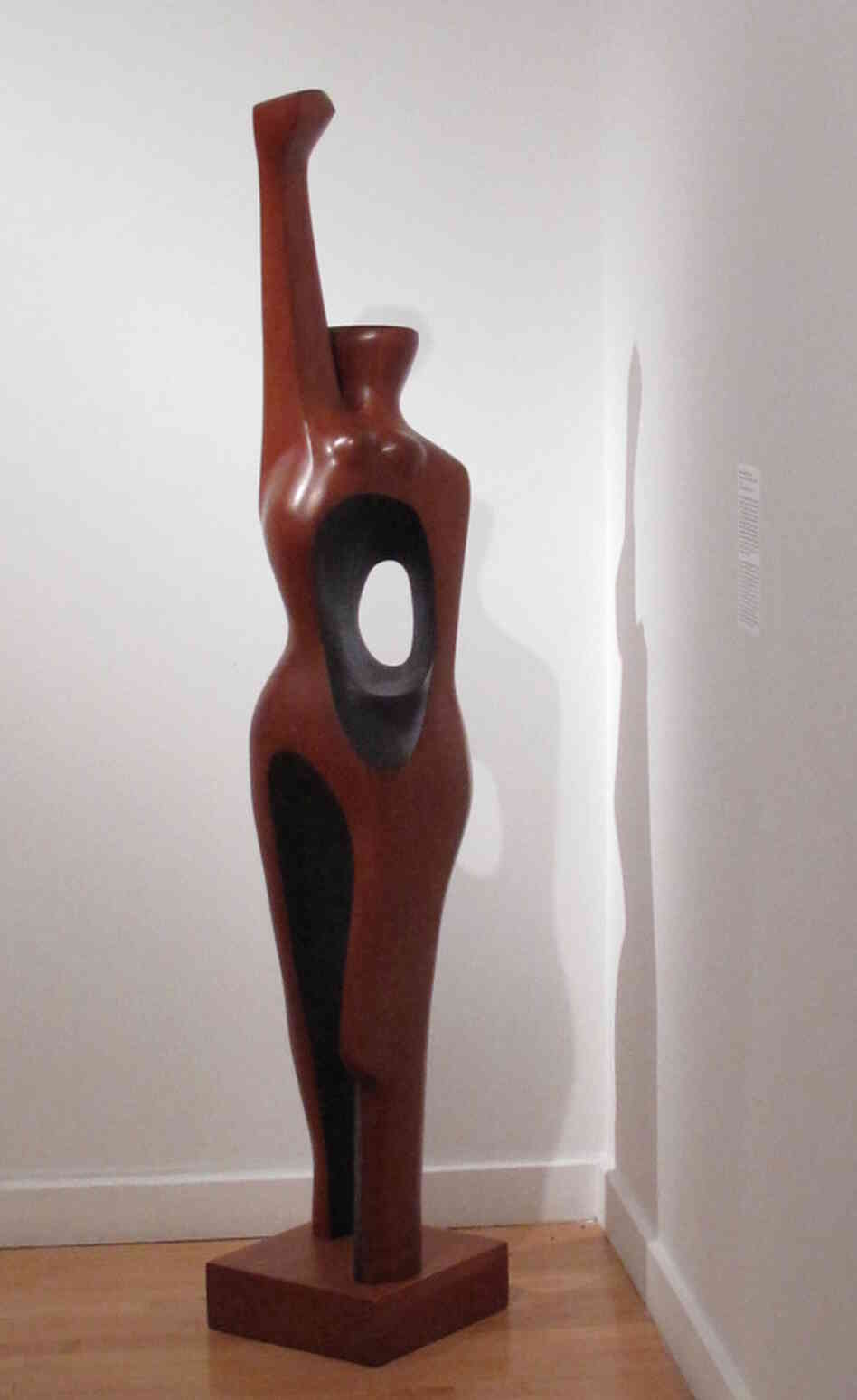 Elizabeth Catlett's 1968 sculpture Homage to My Young Black Sisters