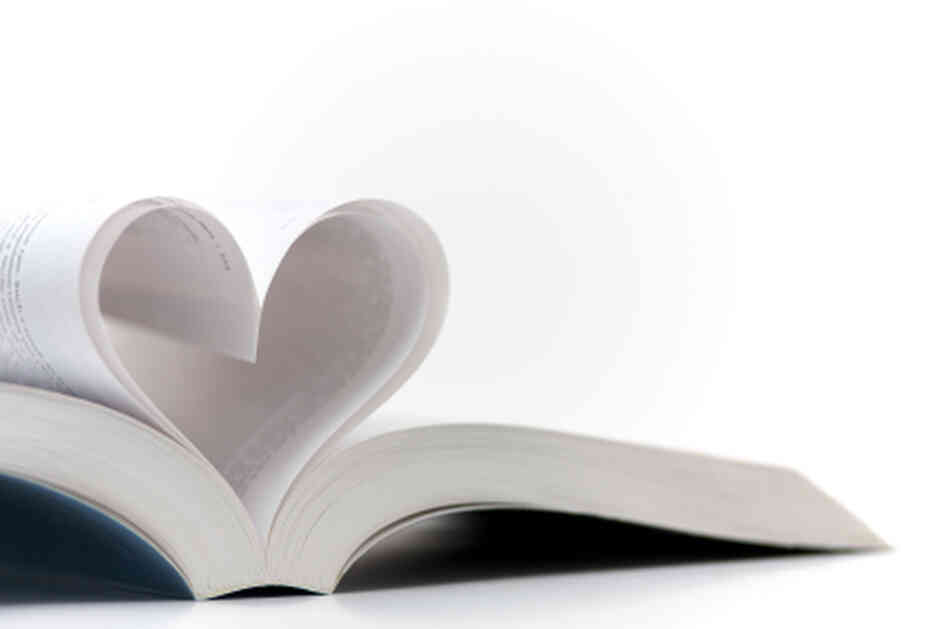 Pages shaped into a heart