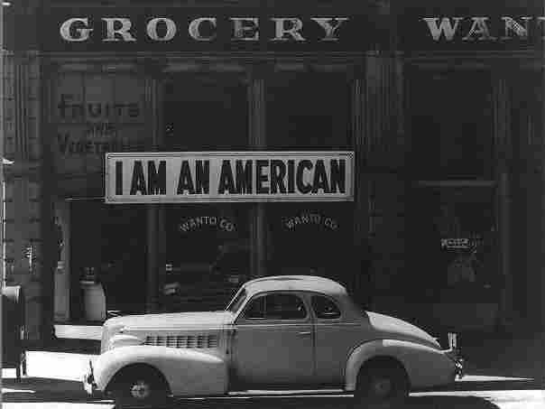 A large sign placed in the window of a store in Oakland, Calif. in 1942. The store was closed following orders to persons of Japanese descent to evacuate from certain West Coast areas.