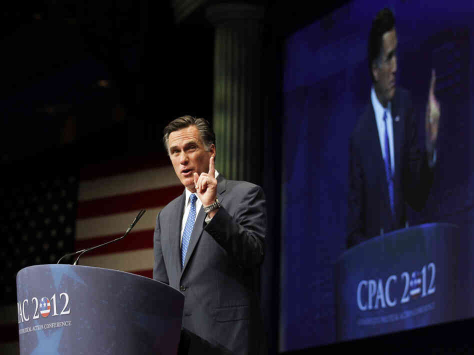 Hoping to inspire the conservative base that hasn't warmed to him, Mitt Romney made his case to the American Conservative Union's annual Conservative Political Action Conference in Washington on Friday.