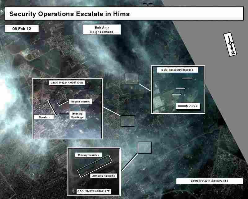 A satellite image taken Feb. 6.